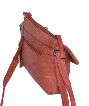 650001 Spikes & Sparrow-Damen-Leather-Crossover-Bag 23x3,5x16-Rusty