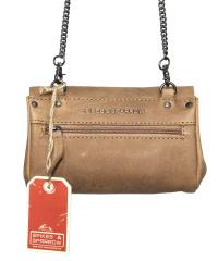 Spikes & Sparrow-Damen-Leather-Clutch 19,5 x 3 x 13-Sand