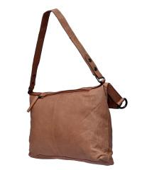 Spikes & Sparrow-Damen-Leather-Zip-Bag 35x6x36,5 Camel