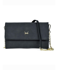 650086 SANSIBAR-Damen Clutch 23x14x4 001-Black