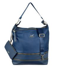 SANSIBAR-Damen Schultertasche 34 x12 x36-011-ocean blue