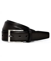 Bugatti-Herren-Voll-Ledergürtel 35 mm schwarz