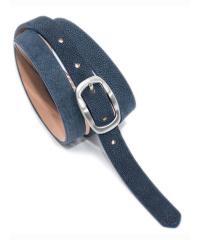 Bag& Belt-Damen-Gürtel 2 cm Nubuk   dunkelblau...
