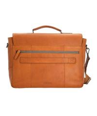 STRELLSON-Leather Briefbag HYDE PARK Laptop-Tasche MHF...