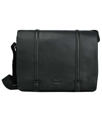 STRELLSON-Leather Messenger BAKERLOO LHF Black 38x28x11