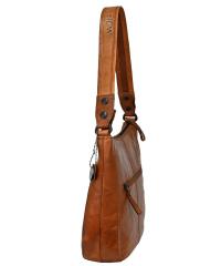 Spikes & Sparrow-Damen-Leather-Shoulderbag brandy...