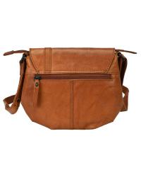 Spikes & Sparrow-Damen-Leather-Flapbag brandy 18x20x8